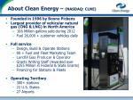 about clean energy nasdaq clne