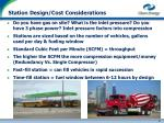 station design cost considerations
