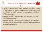introduction about agile methods