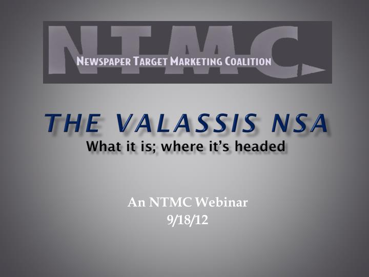 the valassis nsa w hat it is where it s headed n.