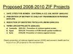 proposed 2008 2010 zif projects1