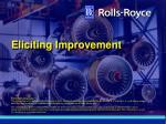 eliciting improvement