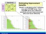 estimating improvement benefits