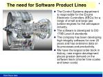 the need for software product lines