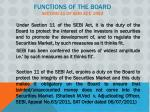 functions of the board section 11 of sebi act 1992