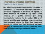 inspection of listed companies section 11 2a of sebi act