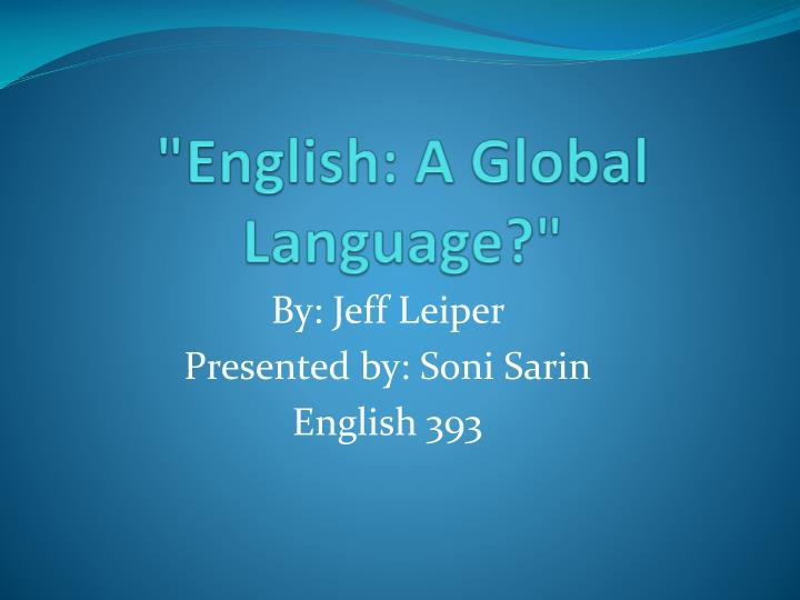 english a global language n.