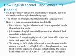 how english spread and where it s headed