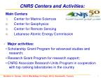 cnrs centers and activities