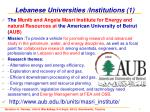lebanese universities institutions 1