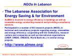 ngos in lebanon