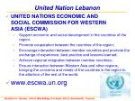 united nation lebanon