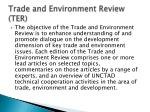 trade and environment review ter