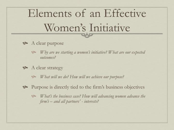 Elements of an Effective