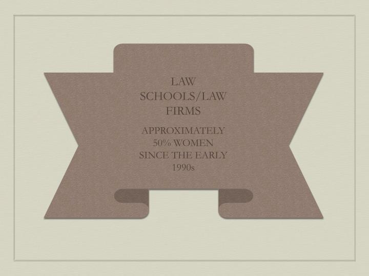 LAW SCHOOLS/LAW FIRMS
