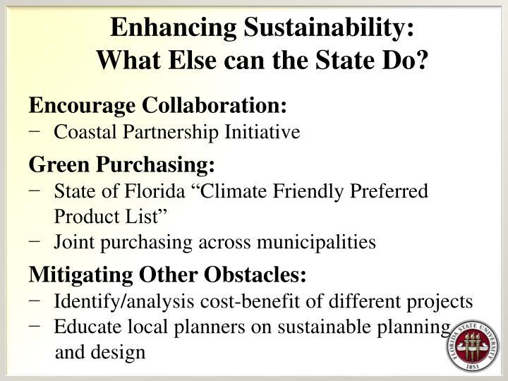 Enhancing Sustainability: