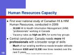 human resources capacity
