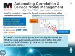 automating correlation service model management