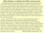 mill s idealism a sample from mill s autobiography