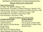 synthesis and refinement of classical economics nassau senior john stuart mill