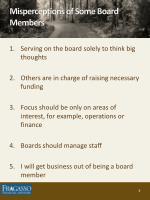 misperceptions of some board members