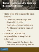 relationship between the board and the executive director