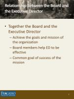 relationship between the board and the executive director1