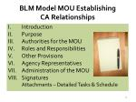 blm model mou establishing ca relationships1
