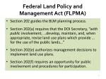 federal land policy and management act flpma