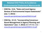 related doi policy guidance environmental statement memoranda