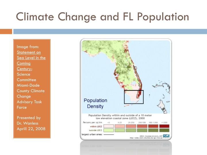 Climate Change and FL Population