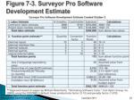 figure 7 3 surveyor pro software development estimate