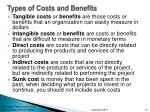 types of costs and benefits