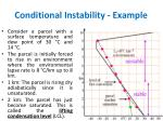conditional instability example