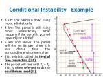 conditional instability example1