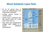 moist adiabatic lapse rate