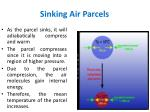 sinking air parcels