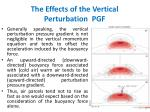 the effects of the vertical perturbation pgf