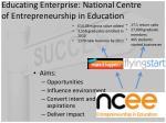 educating enterprise national centre of entrepreneurship in education1