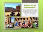 budding social entrepreneurs