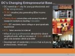 dc s changing entrepreneurial base