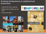 growing entrepreneurs neighborhood businesses