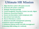 ultimate hr mission