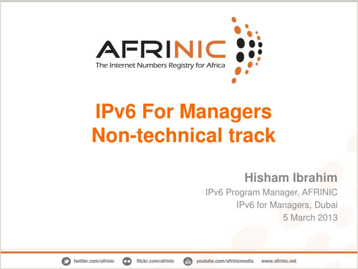 ipv6 for managers non technical track n.