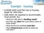example housing