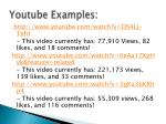youtube examples