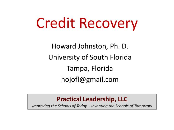 credit recovery n.