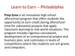 learn to earn philadelphia