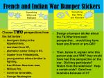 french and indian war bumper stickers