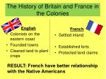 the history of britain and france in the colonies
